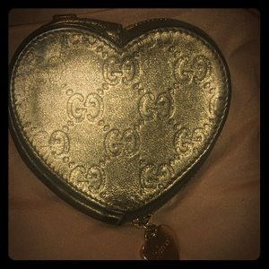 Gucci coin heart shaped purse Authentic